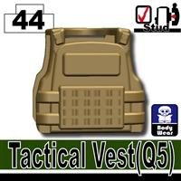 Dark Tan Minifigure Tactical Vest Body Armor Q5