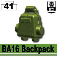 Tank Green Ba16 Minifigure Assault Backpack