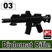 Diplomat Minifigure Assault Rifle