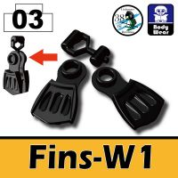 Minifigure Fins W1 Navy Seal Flippers