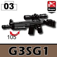 G3Sg1 Minifigure Sniper Rifle