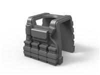 Gray Minifigure Tactical Vest E1
