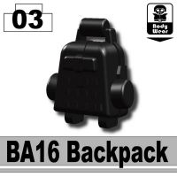 Black Minifigure Ba16 Assault Backpack