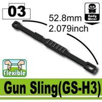 Gs-H3 Minifigure Army Gun Sling W/Shells