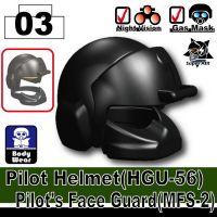 Advanced Minifigure Tactical Pilot Helmet
