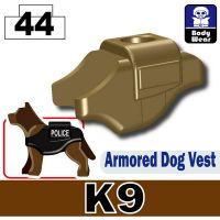 Dark Tan K9 Police Dog Tactical Vest
