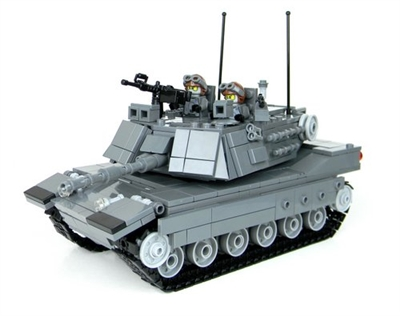 M1A2 Abrams Main Battle Tank Gray